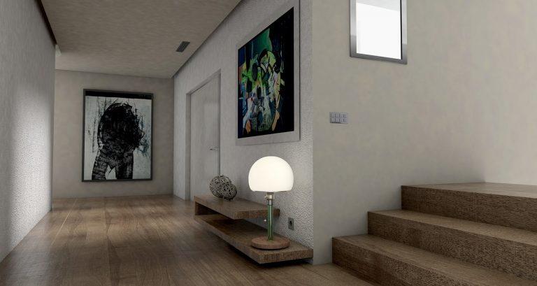 Pintar la casa con colores grises y blancos